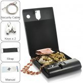 Portable Security Box - Executive Biometric Fingerprint Safe ( Store up to 200 fingerprints ) Security Tracer system New