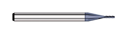 Titan TC58250 Solid Carbide End Mill, 4 Flute, Square End, 30 degree Angle Helix, AlTiN Coated, 0.050' Size, 0.125' Shank Diameter, 1-1/2' Overall Length, 0.150' Length of Cut