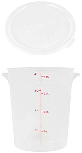 Cambro RFS4PP190 4 Qt. Translucent Round Storage Container with RFSC2PP190 Translucent Lid