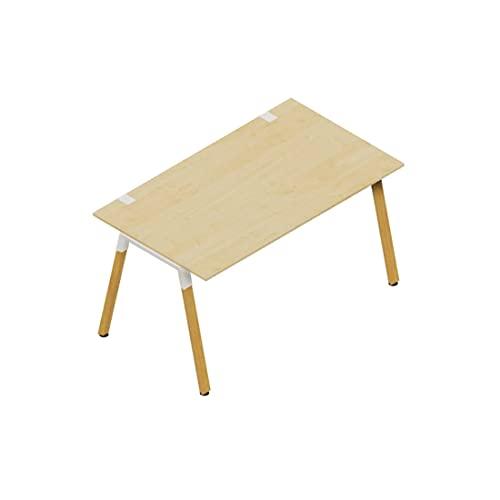 OKA Home Line Schreibtisch ideal fürs Home Office MTI Echtholz (Ahorndekor, 120 x 80 cm)