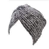 ターバン脱毛ターバンハット どれ行事の女性のフードハットのためのクロスツイストキャップピュアカラーフードキャップ ヘッドラップスカーフキャップ (Color : B)