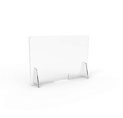 Barriera Protettiva in plexiglass Trasparente Dim 100x70cm (Trasparente)