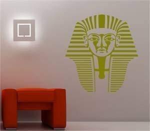 Online Design Schöne Tutanchamun Maske Ägypten Wanddekor Aufkleber Vinyl - blau
