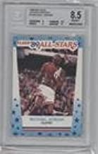 Michael Jordan BGS GRADED 8.5 (Basketball Card) 1989-90 Fleer - All-Stars Stickers #3
