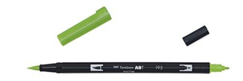 Tombow - Rotulador con doble punta, color verde claro