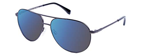 EnChroma Color Blind Glasses - Atlas Gunmetal Aviator- Cx3 Sun For Deutan and Protan Color Blindness (Gunmetal, Cx3 Sun)