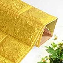 Happytoys 70x77cm PE Foam 3D Wall Stickers Safty Home Decor Wallpaper Sticker,yellow