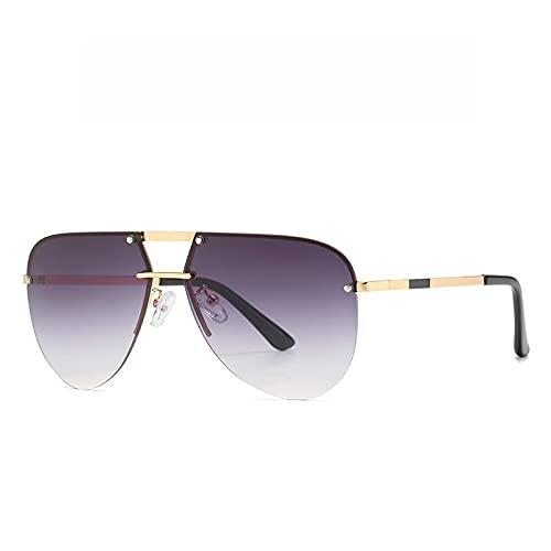 SLIYFJKQLX Gafas De Sol con Montura De Sapo para Hombre, Gafas De Sol Sin Montura Personalizadas, Tendencia De Gafas De Sol Modernas
