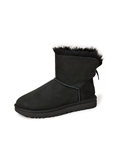 UGG Female Mini Bailey Bow II Classic Boot, Black, 6 (UK)