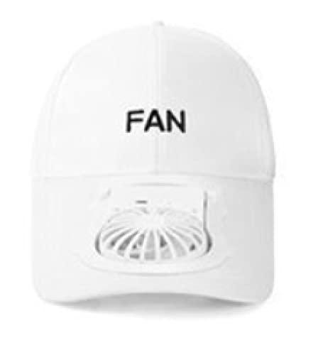 XIANGQIAN Sombrero Abanico Ventilador Carga USB portátil Sombrero Unisex Protector Solar Verano Ajustable Gorras béisbol Deportivas Viseras protección UV Mini Ventilador Enfriador 2021 Nuevo