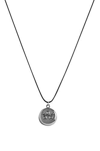 invisawear Smart Jewelry - Personal Safety Device - Silver Leather Necklace