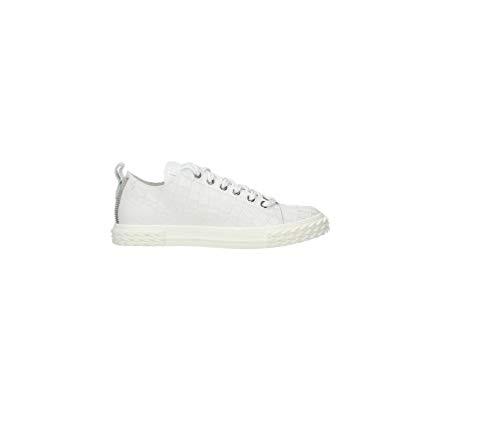 ZANOTTI Sneakers in Pelle Stampo Cocco Bianca (Numeric_35)