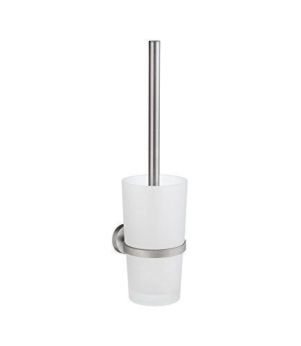 Smedbo Toilet Brush Wallmount, Brushed Chrome HS333 WC-Bürste zur Wandmontage, glas, silber/weiß