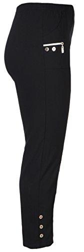 stylx Damenhose - leichte Thermohose - Stretchhose Winterhose Outdoor- Funktionshose Stretch Innenfutter aus Mikrofleece (schwarz, 48-50)