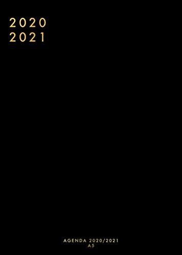 Agenda 2020 2021 A5: Agenda 2020 2021 Settimanale  | Nero |  Giugno 2020 - Luglio 2021 | Weekly Planner 2020 2021 |  Tascabile
