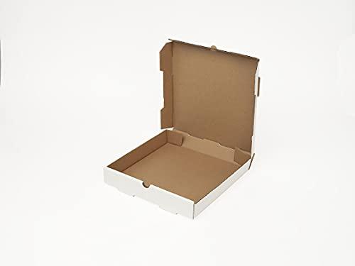 16' x 16' x 2' White Unprinted Corrugated Pizza Boxes (50 Boxes) - AB-238-1-03