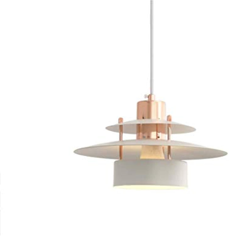 ZLHLL Einfache Schmiedeeisen Plating Restaurant Kronleuchter, Wohnzimmer Schlafzimmer Bar Kronleuchter Shop Dekoration Lampe (Farbe   Wei)