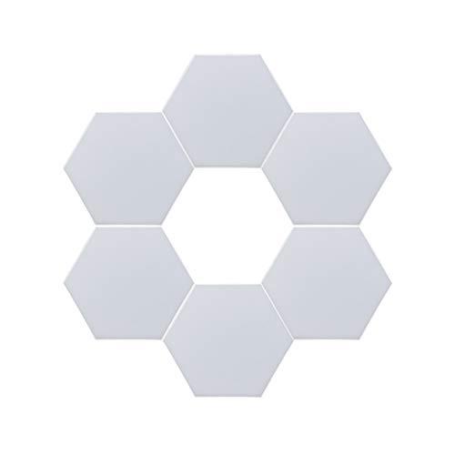 Led Creativo Interruptor Táctil Apliques De Pared,6 Piezas 6w Empalme Combinación Luz Nocturna,Hexágono Lampara De Pared Para Dormitorio Salón-6 piezas 10.3x9cm(4x4inch)