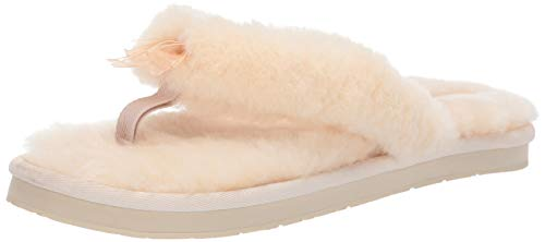 UGG Female Fluff Flip Flop III Slipper, Natural, 6 (UK)