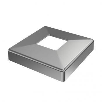 Bouchon pour tuyau carr/é 50x50 blanc plastique Embout bouchons dobturation 5 pcs