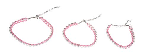 MICHI SC70 Crochet Necklace Rosa M 24–30cm (9–12) Collar para Perros