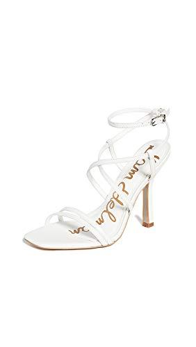 Sam Edelman womens Leeanne Shoes Heeled Sandal, Bright White, 6.5 Wide US