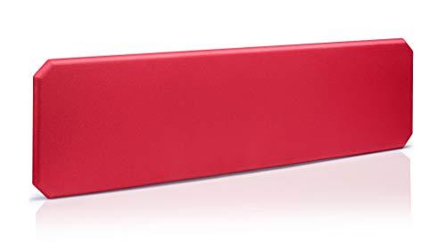 Oktagon Akustik Tischtrennwand, Schallschutz - Paneel, Stellwand schallabsorbierend, geprüft nach DIN EN ISO 354, Größe: 1600 B x 435 H x 50 D (mm), Farbe: rot
