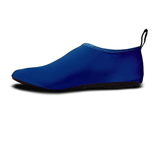 QAOSHOP Zapatos de agua unisex para niños, zapatos de natación descalzos antideslizantes de secado rápido para playa, piscina, surf, D, 22