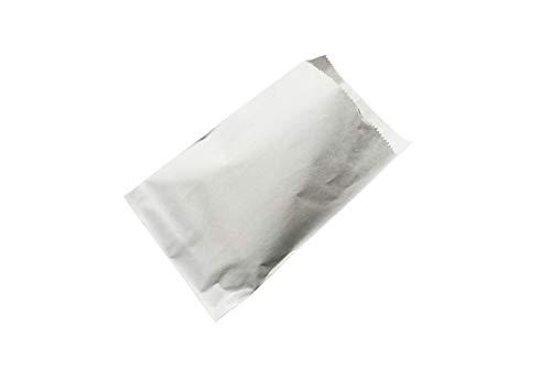 100 Papiertüten 12 x 18 cm weiß mit Klappe gebleicht kraft Papier Flachbeutel Tüten