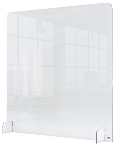 Nobo Socialt distanserande plexiglas akryl 1 m skyddande räknare skiljevägg barriär, nysning och hostskydd och skärm, 700 x 850 mm, klar, 1915489