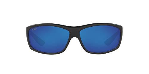 Costa Del Mar Men's Saltbreak Sunglasses, Matte Black/Grey Blue Mirrored Polarized-580P, 65 mm