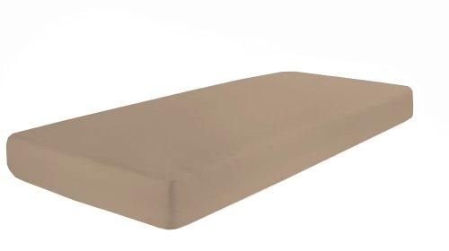 Dormisette Q371 Elastic-jersey-hoeslaken met elastaan, afmetingen: 90 x 190-100 x 200-220 cm, macchiato