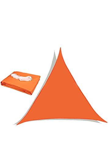 LUS Shade Sail Impermeable UV Block Toldo Sombrilla Resistente al Sol Durable Patio al Aire Libre Patio Patio Patio Trasero-Naranja_Triángulo 3.6 * 3.6 * 3.6m