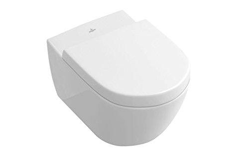 Villeroy & Boch Wand WC Subway 2.0 (Toilette ohne Spülrand; Oberfläche schmutzabweisend; ohne Deckel; Weiß) 5614R0R1