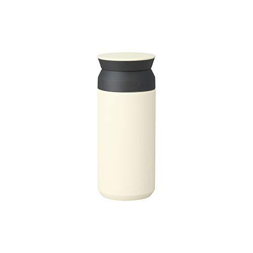 Kinto Reisebecher – isolierte Flasche, weiß, 340 ml, doppelwandig und vakuumisoliert, hält Ihr Lieblingsgetränk für Stunden heiß oder kalt