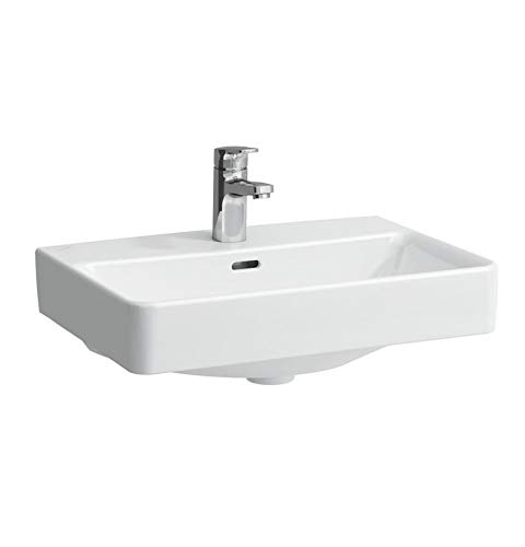 Laufen PRO S Waschtisch-Schale, 1 Hahnloch, ohne Überlauf, US gesch, 550x380, weiß, Farbe: Weiß mit LCC