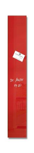 SIGEL GL104 kleines Glas-Magnetboard 12 x 78 cm rot / Magnetleiste Artverum - weitere Farben