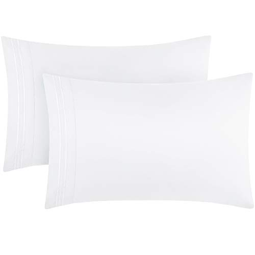 Boll & Branch Luxury Long Staple Organic Cotton Hemmed Pillow Case Set (Pack of 2) - Standard, White