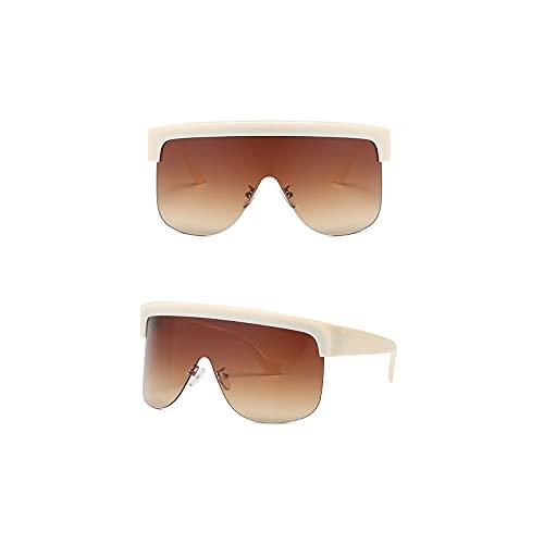 Aetygh Gafas de Sol de Estilo siamés de Cyberpunk para Mujeres y Hombres de Moda Gafas de Sol UV400 (Color : C3, Size : 66mm)