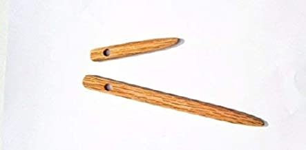 2 Pack Nalbinding Needles Sizes 3 and 6 inches, Natural Wood