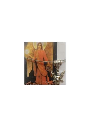 Arcangel San URIEL, Colgante, Amuleto Atrae Dinero y Trabajo, Ángel del Dinero, Trabajo y Fortuna, sin niquel