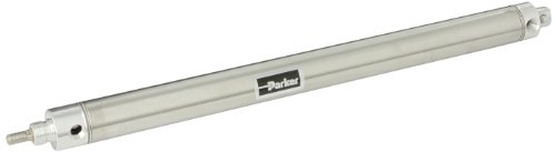 Parker 1.06DPSR12.0 Stainless Steel Air Cylinder, Round Body, Double Acting, Pivot & Nose Mount w/ Pivot Pin, Non-cushioned, 1-1/16 inches Bore, 12 inches Stroke, 5/16 inches Rod OD, 1/8
