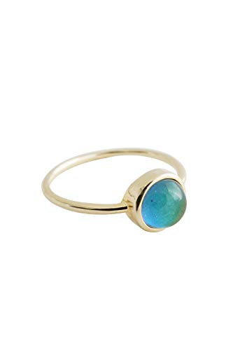 HONEYCAT Mood Ring in Gold, Rose Gold, or Silver   Minimalist, Delicate Jewelry (Gold 6)