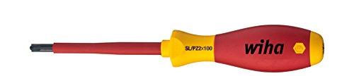 Wiha Schraubendreher SoftFinish® electric PlusMinus/Pozidriv (30701) SL/PZ2 x 100 mm VDE geprüft, stückgeprüft, ergonomischer Griff für kraftvolles Drehen, Allrounder für Elektriker