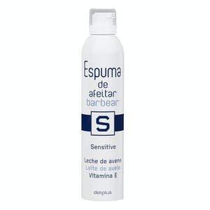 Espuma de afeitar piel sensible Deliplus leche de avena y vitamina E