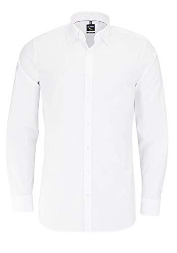 OLYMP No. Six super Slim Hemd Langarm Under-Button-Down weiß Größe 40