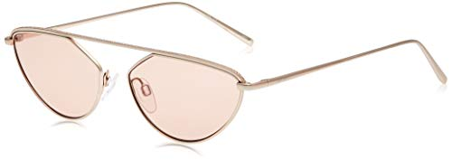 DONNA KARAN EYEWAR Womens DK109S Sunglasses, Rose Gold, 55mm, 16mm, 135mm