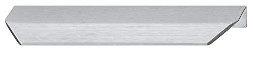 Gedotec Schrankgriff Edelstahl Möbelgriff Küche Griffleiste silber matt gebürstet - Cyprus | Schubladen-Griff Vintage zum Schrauben | Küchengriff für Schranktüren | 1 Stück - Profilgriff BA 64 mm