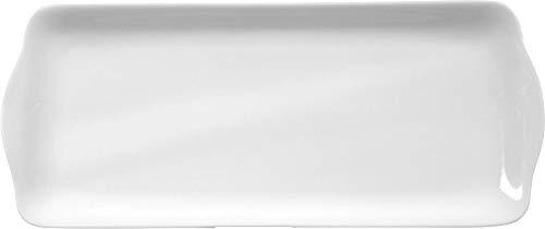 Seltmann 001.216302 Rondo/Liane Porzellan Kuchenplatte, Eckig, Weiß, 35cm x 15cm