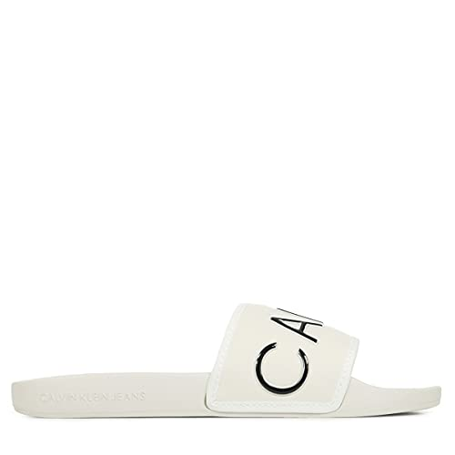 Calvin Klein Chanclas Mujer YW0YW00131 para Mujer Blanco 39 EU